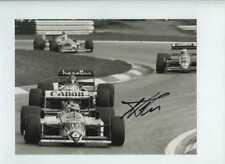 Nelson Piquet Williams FW11B austríaco Grand Prix 1987 Firmado fotografía de prensa 2