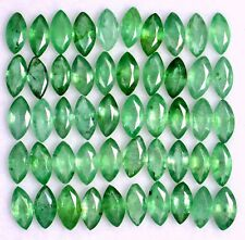 Natural Emerald Marquise Cut 5x2.50 mm Lot 20 Pcs 2.49 Cts Green Loose Gemstones