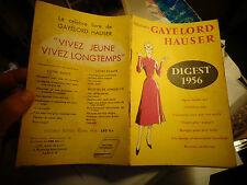 Ancien Magazine GAYLORD HAUSER Digest 1956 Soins Alimentation Régime Recette