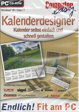 CD-ROM + Computer Easy + calendario Designer + calendario semplicemente rendere + Win 7