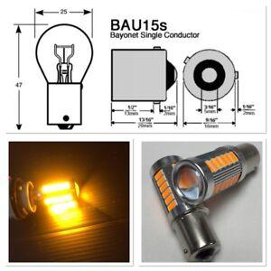 Rear Turn Signal Bulbs BAU15S 7507 PY21W SMD LED 150° Amber K1 HAK