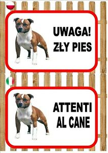 Bull Terrier Beware Of The Dog sign UWAGA ZŁY PIES ATTENTI AL CANE Plaque