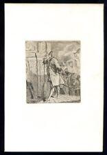 Lafont de Saint-Yenne by FLAMENG..Original etching...1859