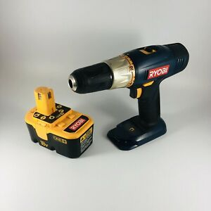 RyobI P204 1/2in (13mm) 18v Cordless Drill With One+ P100 Battery See Below