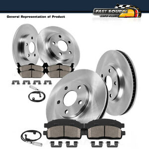 Brembo Front Brake Kit Disc Rotors Sensors Ceramic Pads For VW Touareg 2011-2016