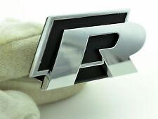 R Logo Grille Car Emblem For VW Golf Scirocco Touareg R Line Grill Car Badge 40
