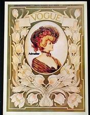 VOGUE MAGAZINE COVER POSTER APRIL 1903 SPRING FASHIONS ETHEL WRIGHT ART NOUVEAU