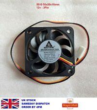 More details for 5010 12v 3pin brushless pc printer cooling fan 50mm 50x50x10mm 5cm uk