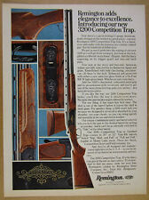 1976 Remington 3200 Competition Trap Shotgun color photo vintage print Ad