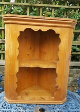 Solid Pine Corner Wall Two Shelved Unit
