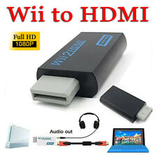 Portable Wii to Hdmi Wii2Hdmi Full Hd Converter Audio/Video Output Adapter Black