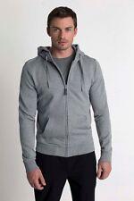 MPG Sport Integral Essential Washed Organic Cotton Full Zip Hoodie Sweatshirt, L