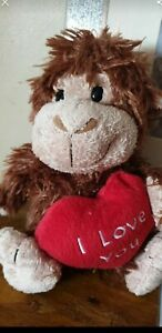 Cute I Love You Heart Monkey Soft Plush Toy