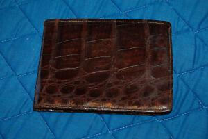 Vintage Brown Genuine Alligator  Wallet / Billfold