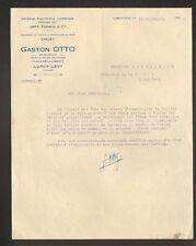 """LURCY-LEVY (03) MACHINES & OUTILS à TRAVAILLER le BOIS """"Gaston OTTO"""" en 1927"""