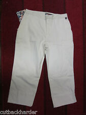 ROXY Ladies Girls Juniors Capri Flood Pants White SIZE 3 BRAND NEW