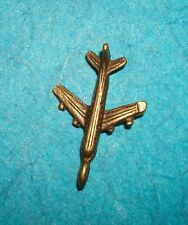 Pendant Airplane Charm Bronze Airline Hostess Pan Am Vacation Pilot Flying Love!