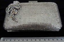 VINTAGE CRYSTAL HAND BAG CLUTCH WITH CRYSTALS AND INTRICATE DECORATIVE <<so2d2