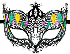 Mardi Gras Black Filigree Masquerade Metal Mask