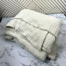 BAREFOOT DREAMS Cozychic Throw White Cream Ribbed
