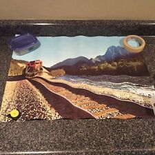 Great Northern Railway Train Poster Washington Cascade Mountains 19 X 25