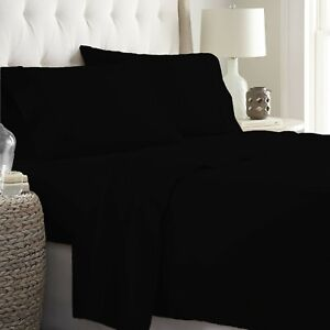 Egyptian Cotton Glamorous Black Bedding Collection Solid Select Item & Size