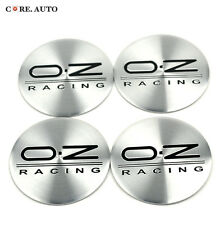 New 50mm× 4pc Wheel Center Emblem Sticker For  Black O.Z Racing
