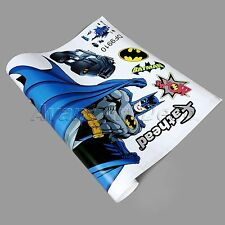 Fashion 3D Batman Superman Wall Stickers Art Decals Kids Room Home Decor Mural
