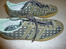 ADIDAS mens shoes RECYCLED classics embroidered TREFOILS army green 10 exc cond