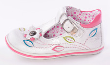 Bellamy Infant Girls Basil Silver Leather Buckle Shoes UK 7.5 EU 25 US 8 RRP £56