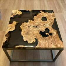 Epoxy Resin Square Black River Coffee Table Top 35mm thickness (TOP ONLY)