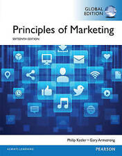 Principles of Marketing by Philip Kotler & Gary Armstrong Paperback Book 16th Ed