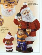 "S99-002-A. Slavic Treasures ""Santa'S Secret (Behind His Back)"" Ornament."