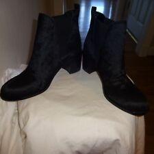 SAM EDELMAN Women's Black Leather Cow Fur Short Boot Size 7.5 EU 38