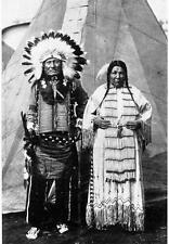 Photo. 1920s. Native American Sioux Indians in Circus by Teepee