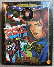 "BLACK WIDOW 8"" ACTION FIGURE w/BOX 1998 MARVEL FAMOUS COVERS TOY BIZ AVENGERS"