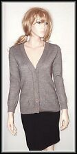 French Connection Wool Mix Long Sleeve Button Knit Cardigan size UK 12  EUR 40
