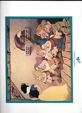 Disney Lithograph Snow White Seven Dwarfs Let Me See Your Hands 1994 Spec. Ed.