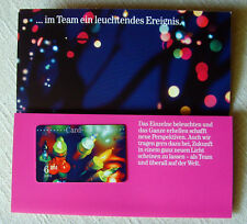 NEU T-Card Callingcard Telefonkarte Folder 6DM voll Telekom Weihnachten 2001