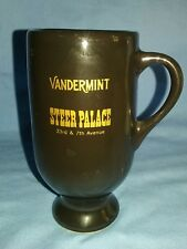 VINTAGE! STEER PALACE 33RD & 7TH AVE. NEW YORK CITY VANDERMINT LIQUER GLASS