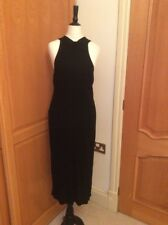 NEXT.  BLACK    HALTER NECK. EVENING DRESS. SIZE 10.    WRIGGLE BODY CON