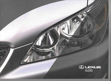 LEXUS IS 200 S, SE AND SPORT SALES BROCHURE OCTOBER 1999 FOR 2000 MODEL YEAR