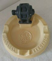 Vintage GE General Electric Ceramic  Ashtray Cigarette Cigar Tobacco  EVC