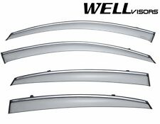 WellVisors Side Window Visors W/ Chrome Trim For 09-Up FX35 FX45 FX37 FX50 QX70