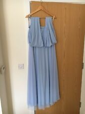 Two Birds Tulle Bridesmaid Dress Powder Blue in Excellent Condition Size A