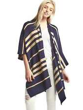 Gap Women's Stripe Poncho, Nylon Cotton Wool, Dark Night, Navy, One Size, NWT