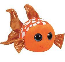 """TY BEANIE BOOS LARGE Plush 14"""" 36cm Soft Toy SAMI the FISH ORANGE"""