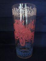 Americana Horseless Carriage Glass Tumbler Vintage 16 oz.