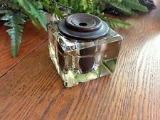 Antique Sengbusch Self-Closing Glass Inkwell