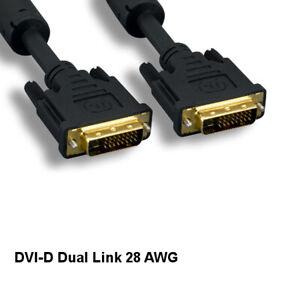 Kentek 25Ft DVI 24+1pin Cable Dual Link Video HDTV PC Monitor Digital 28 AWG